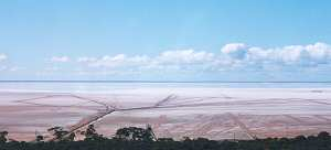 Lake lefroy salt lakes, seen from Red Hill, Kambalda