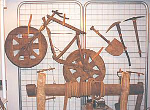Wooden bicycle in Goldfields Museum