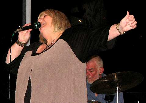 Dramatic vocal pose by well-known jazz ballad vocalist Anita Harris.