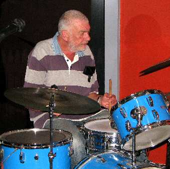 Renowned drummer Alan Richards, also supplier of our essential PA equipment plus this drum kit.