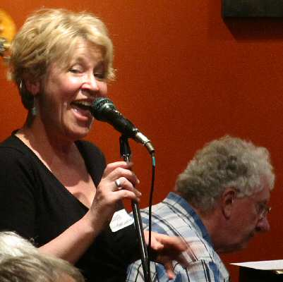 Guest jazz diva Mary-Louise Hatch, backed by pianist Grahame Taylor.