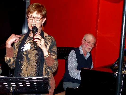 Janet Arndt sings in her inimitably relaxed jazz style, ably backed by good friend Frank Cox (dec.).