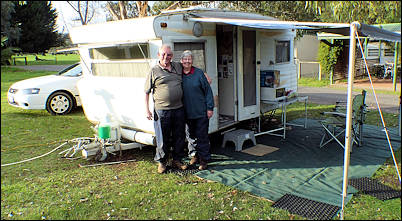 us and our car and caravan setup